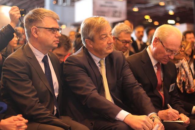 Matthieu de Montchalin, Vincent Montagne et Alain Kouck - Salon du Livre 2014
