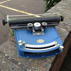 I've been given this rather happy looking writing machine!
