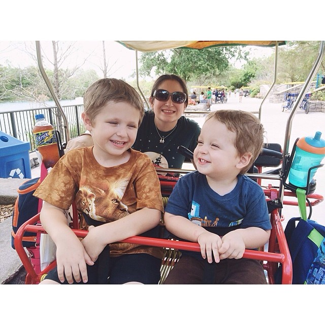 #pictapgo_app #zoomiami me & my littles, sitting in the safari bike ;) so much fun!!!