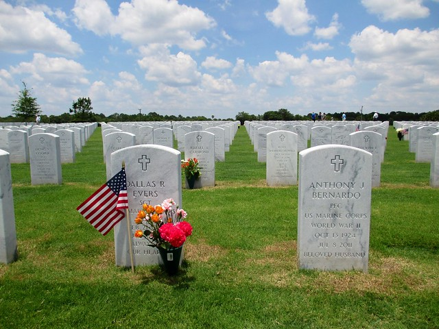 Memorial Day at the Sarasota National Cemetery, Florida, May 26, 2014