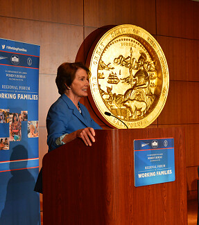 Congresswoman Pelosi joins Department of Labor's San Francisco Forum on Working Families