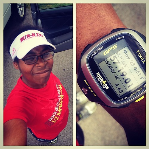 Today was supposed to be a 5 mile fast #run but it turned into a search and rescue mission that ended short. I'm  glad to be done before the rain comes back. Hot and humid again but this is summer! #fitfluential #fitness #runchat #running