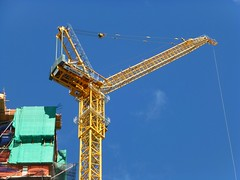 Cranes in New York City, USA