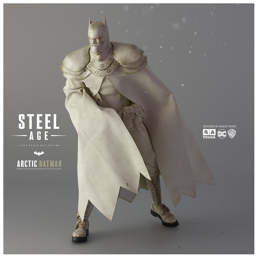 threeA DC Comics 系列【鋼鐵世代:極地蝙蝠俠】Steel Age Arctic Batman 1/6 比例人偶作品