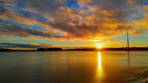 sunset vaasa finland sea balticsea gulfofbothnia water clouds sky