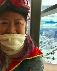 # Saturday snowboard selfie at snowbird #slc #hashtag