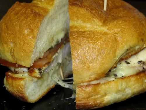 Chicken Caprese sandwich by Coyoty