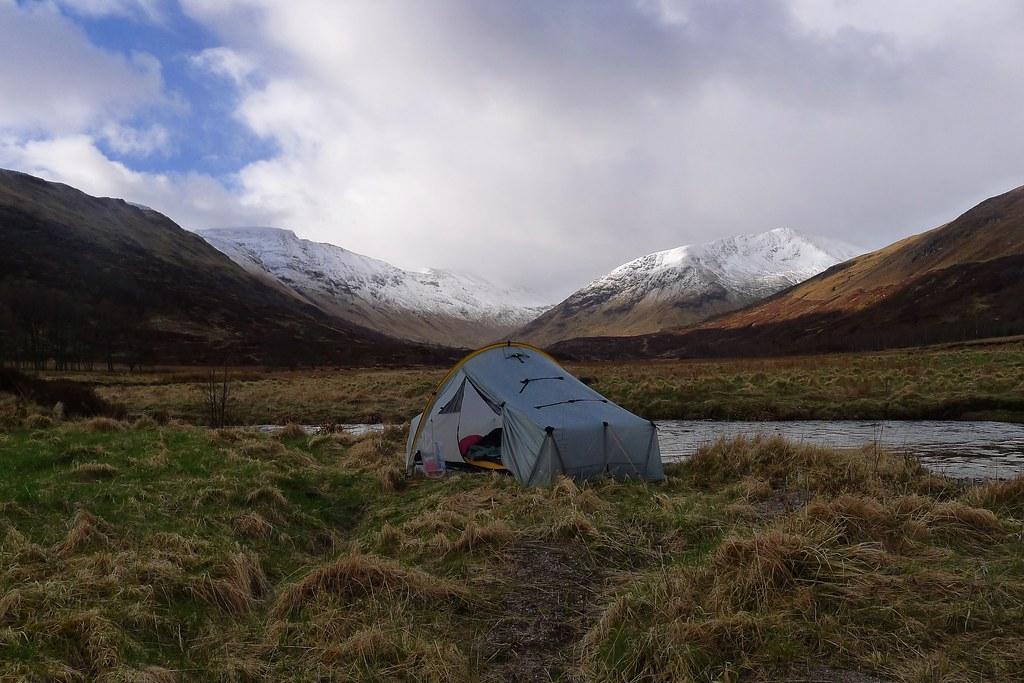 Camped in Gleann na Ciche