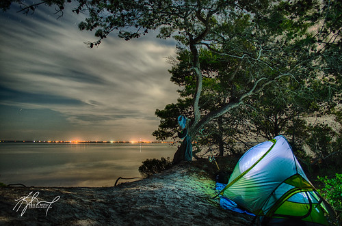 camping beach night clouds fishing florida tent hdr stjoebay stjoepeninsulastatepark primitivecamping
