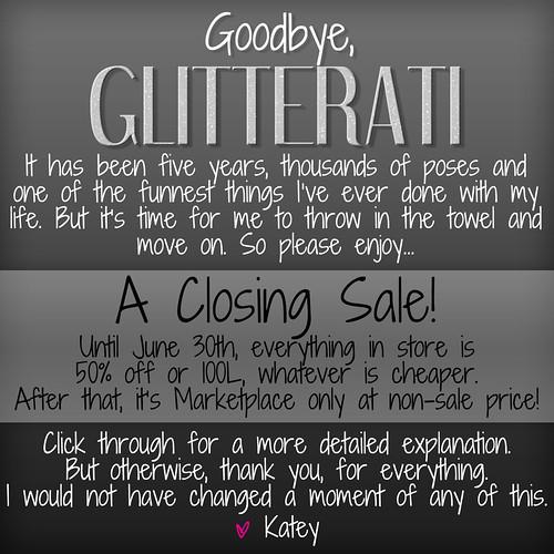 Goodbye, Glitterati.