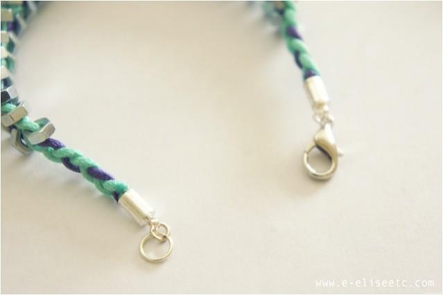 diy hex bracelet 6