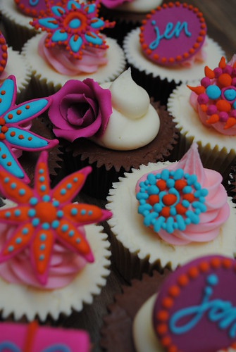 Bejewelled summer cupcakes