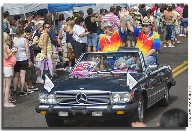 Mark Bias and Carrie West, male Grand Marshals