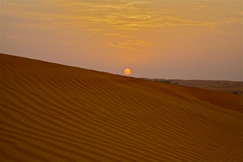 Setting sun on the Arabian Desert