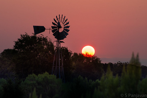 morning sun windmill sunrise austin dawn texas unitedstates