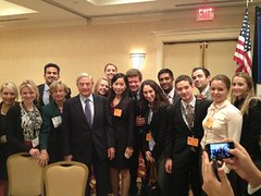 Brandeis NABE Members meet with George Soros at the 2012 Annual Meeting