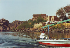 Leaving the Isis Philae Temple by River