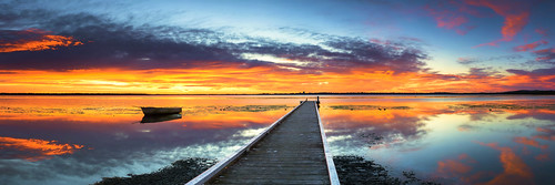 lake seascape colour water clouds sunrise pier boat nikon pano jetty australia panoramic wharf nsw colourful centralcoast schneider d800 brucehood d800e
