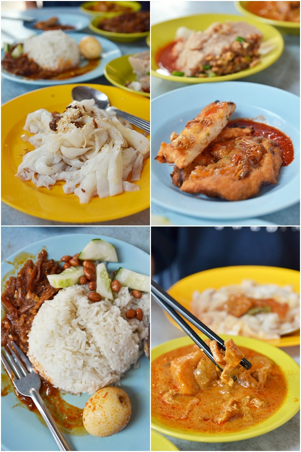 Nasi Lemak, Chee Cheong Fun & Side Dishes