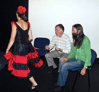 Colin Hume, Nigel Bailey and Kirsty Smith in The Dancer by Alex Davies, directed by Julia Bolden