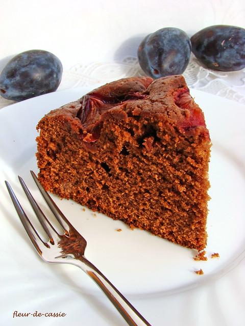 пирог сливово-шоколадный 2