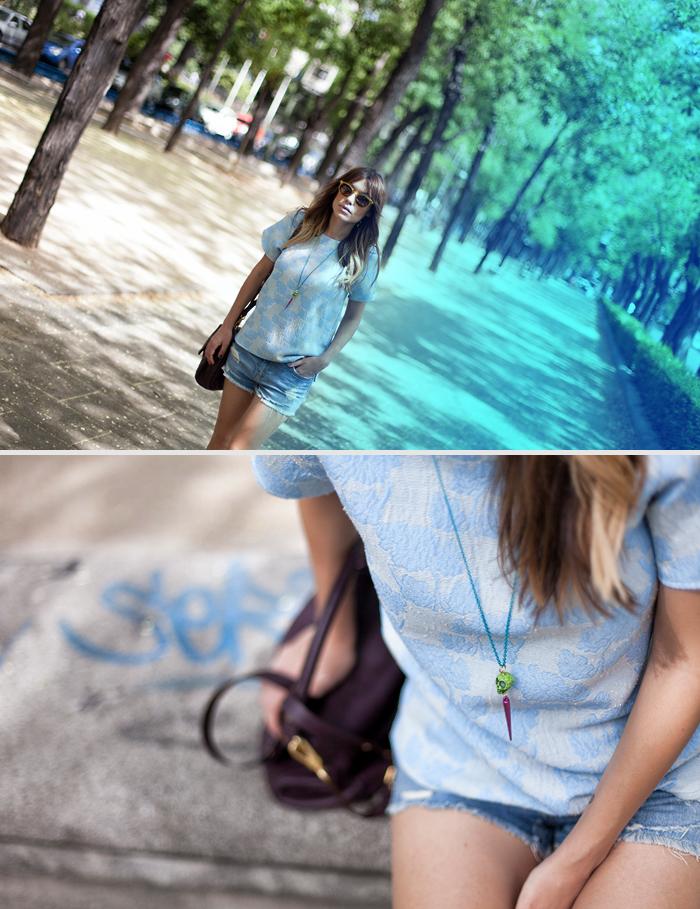 street style barbara crespo blue again paseo de la castellana outfit