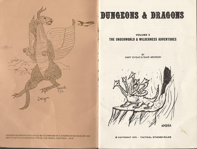 Dungeons & Dragons, The Underworld and Wilderness Adventures, 1974