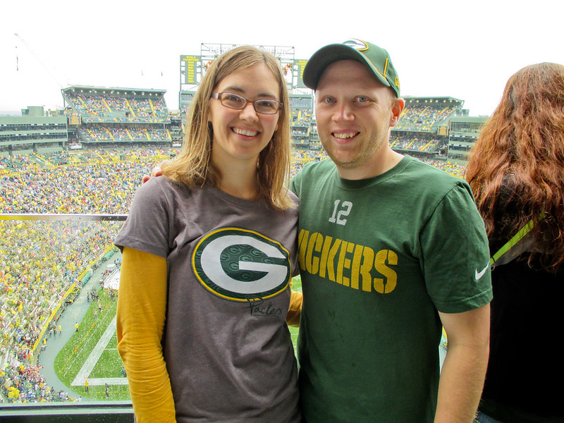 Patrick and Sara at Lambeau Field