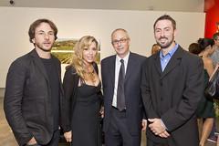 Architetto Matteo Origoni, console Angela Della Costanza Turner, Francesco Fadda Studio Vento&Ass e Mike McKeige testimonial San Patrignano.