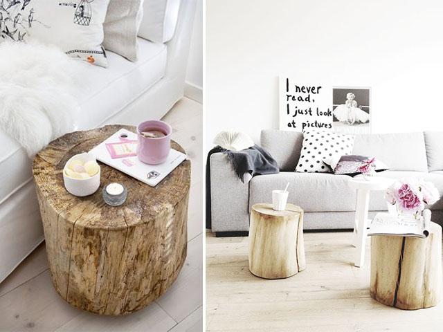 diy home inspo: tree stump coffee tables | a pair & a spare