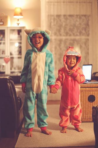 fuzzy pajamas!