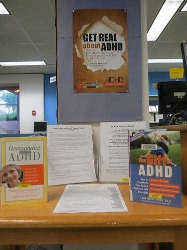 Oakridge Library, Vancouver ADHD Awareness Week book display photo #1