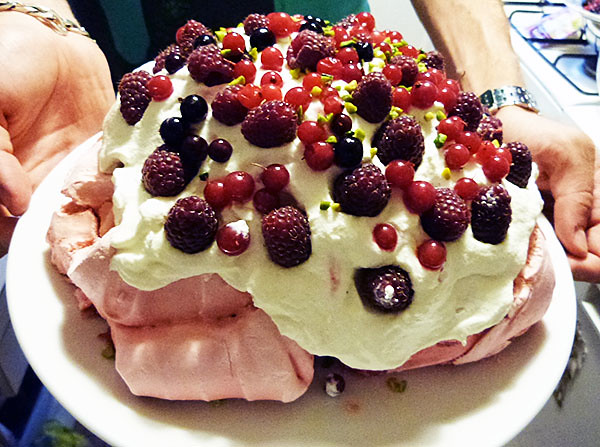 meringue aux fruits rouges