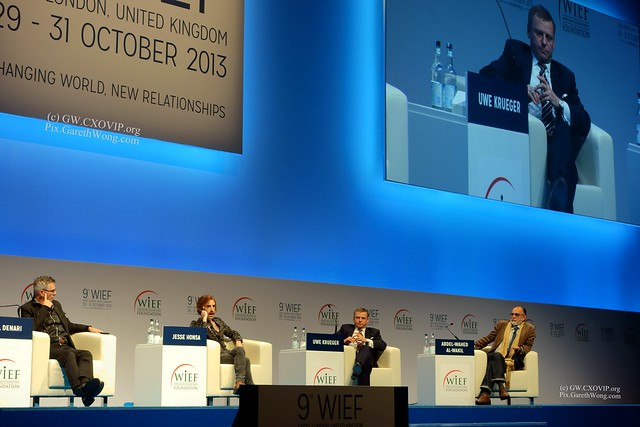 smart city panel WIEF13 _DSC5418 Smart City panel: Neil M. Denari, Founder, @NMDArchitects USA,  @JesseHonsa, Co-Founder, @Open_Urban , Republic of Turkey, Prof. Dr. Uwe Krueger, CEO, @atkinsglobal UK (designer of the Burj Al Arab), Abdel-Wahed Al-Wakil