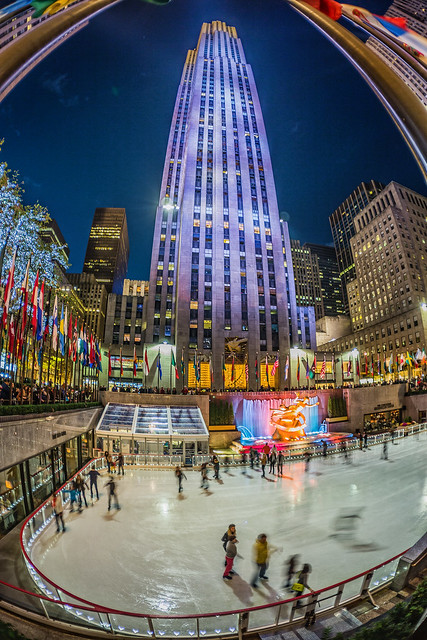 Skaters at Rockefeller Center