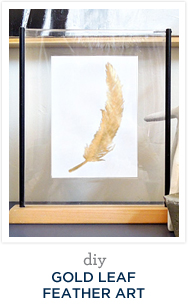 DIY Gold Leaf Feather Art