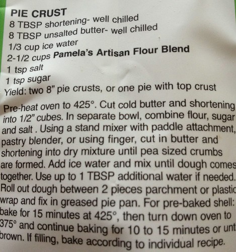 Pamela's Pie Crust