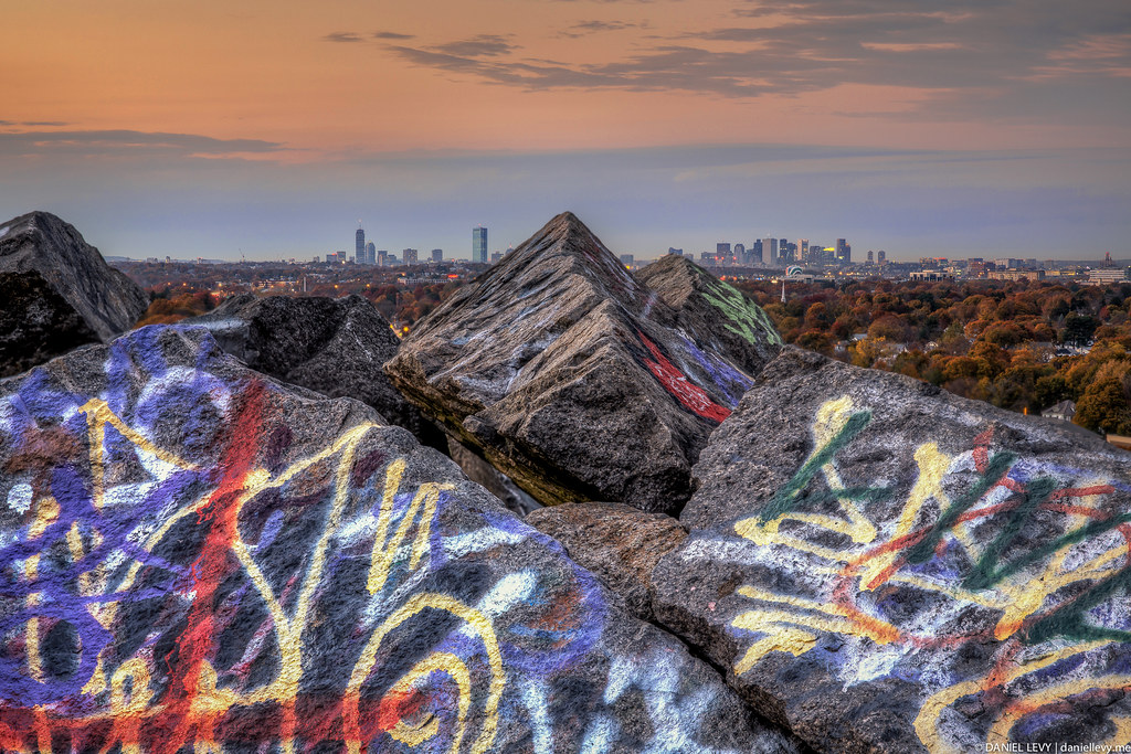 Graffiti Skyline - Boston #HDR #FocusStack