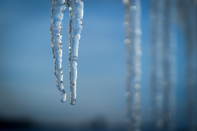 Icicles, Ice, Cold, Winter, Blue, Icicle