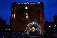 Ruthin Castle Entrance at Night