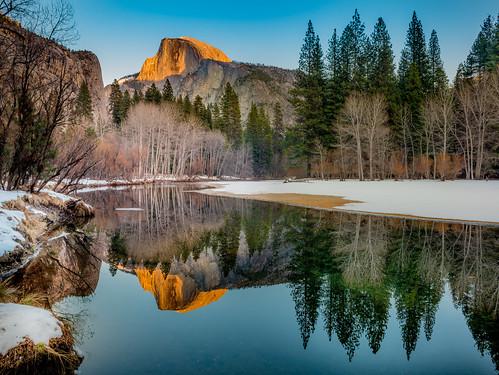 Clear Skies, Winter Dusk, Yosemite