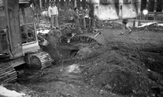 Utgraving av hvelvkjeller i Kjøpmannsgata 28 (1990)