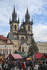 Church of Our Lady before Týn and Christmas market