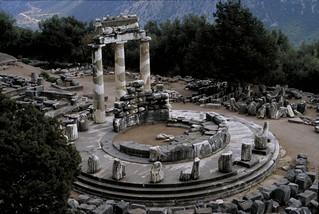 Delphi:  Sanctuary and Tholos of Athena Pronaia