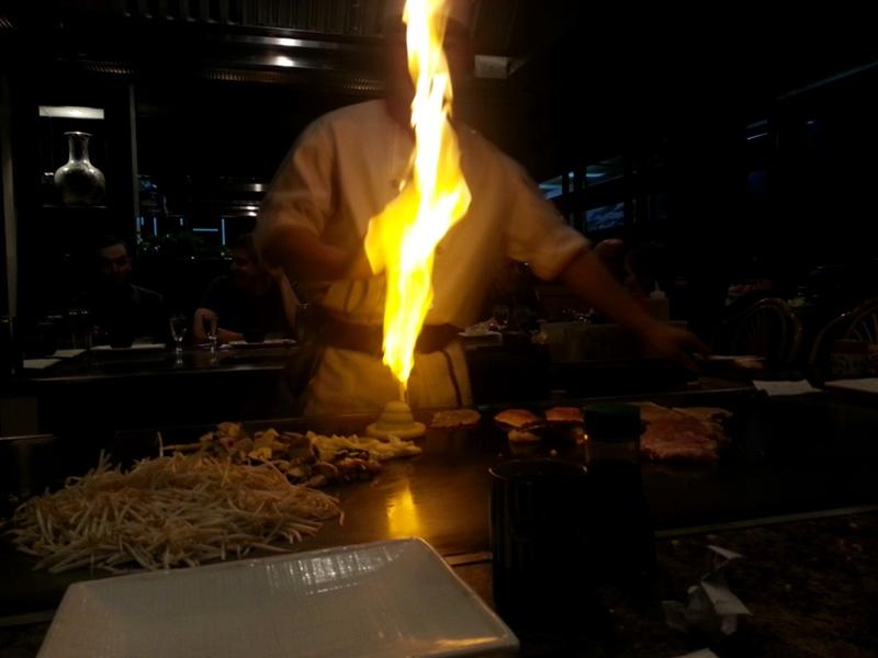 teppanyaki onion flame