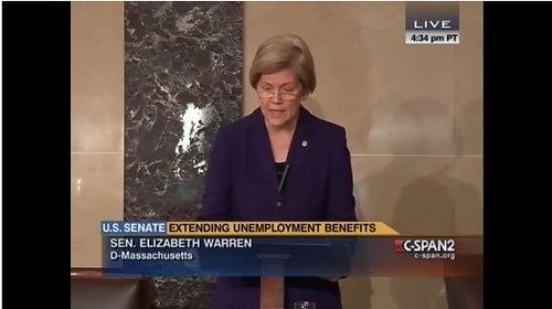 Elizabeth Warren Comes Out Swinging For The Unemployed (VIDEO)