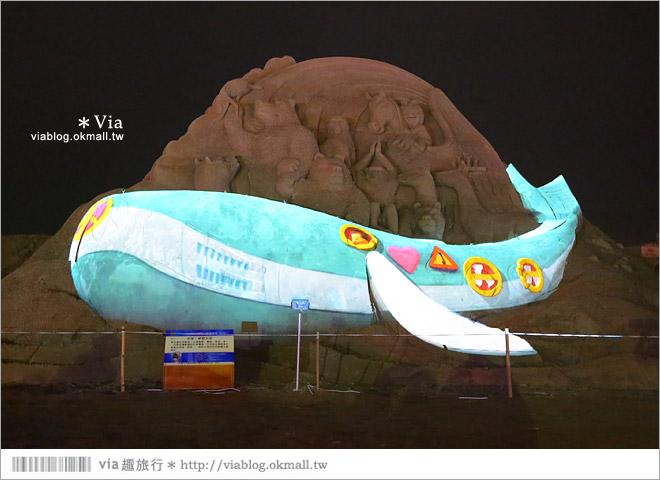 【2014台灣燈會在南投】南投沙雕燈會~夜間點燈好浪漫!還有精彩光雕秀29