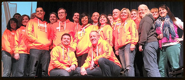 The Amazing #edcampSTL Planning Committe #thankanorangehoodie