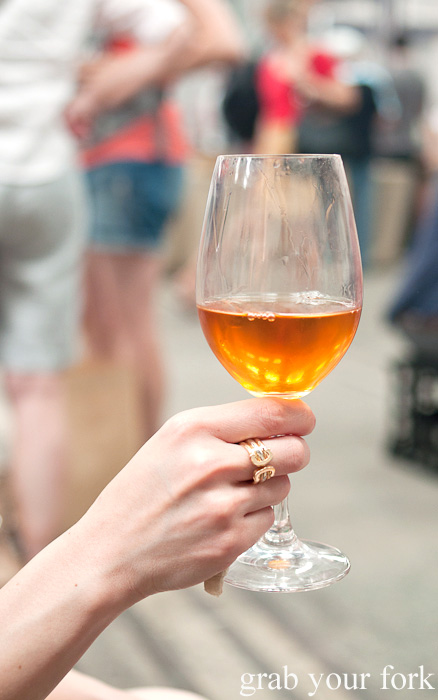 2007 Denavolo Dinavolo orange wine at the Sunday Marketplace, Rootstock Sydney 2014