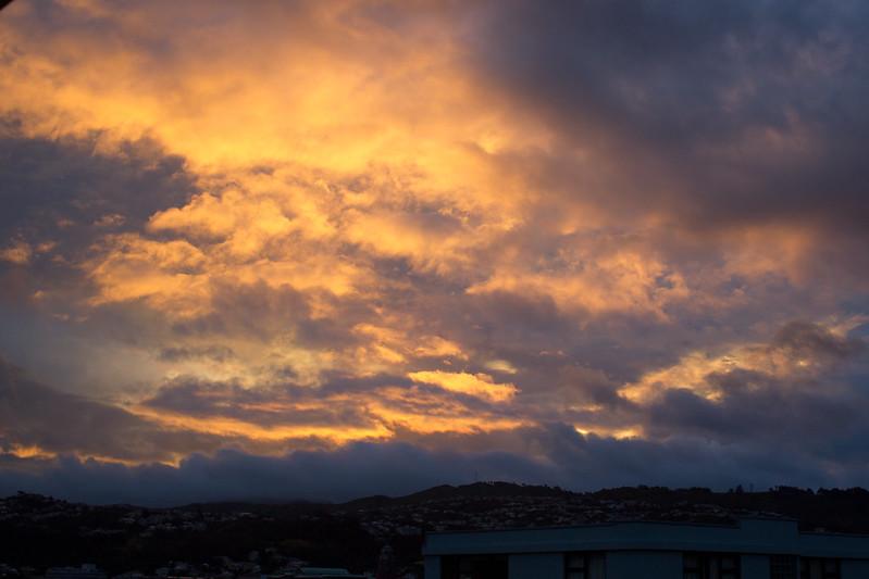 Saturday, January 4: Dramatic sky.